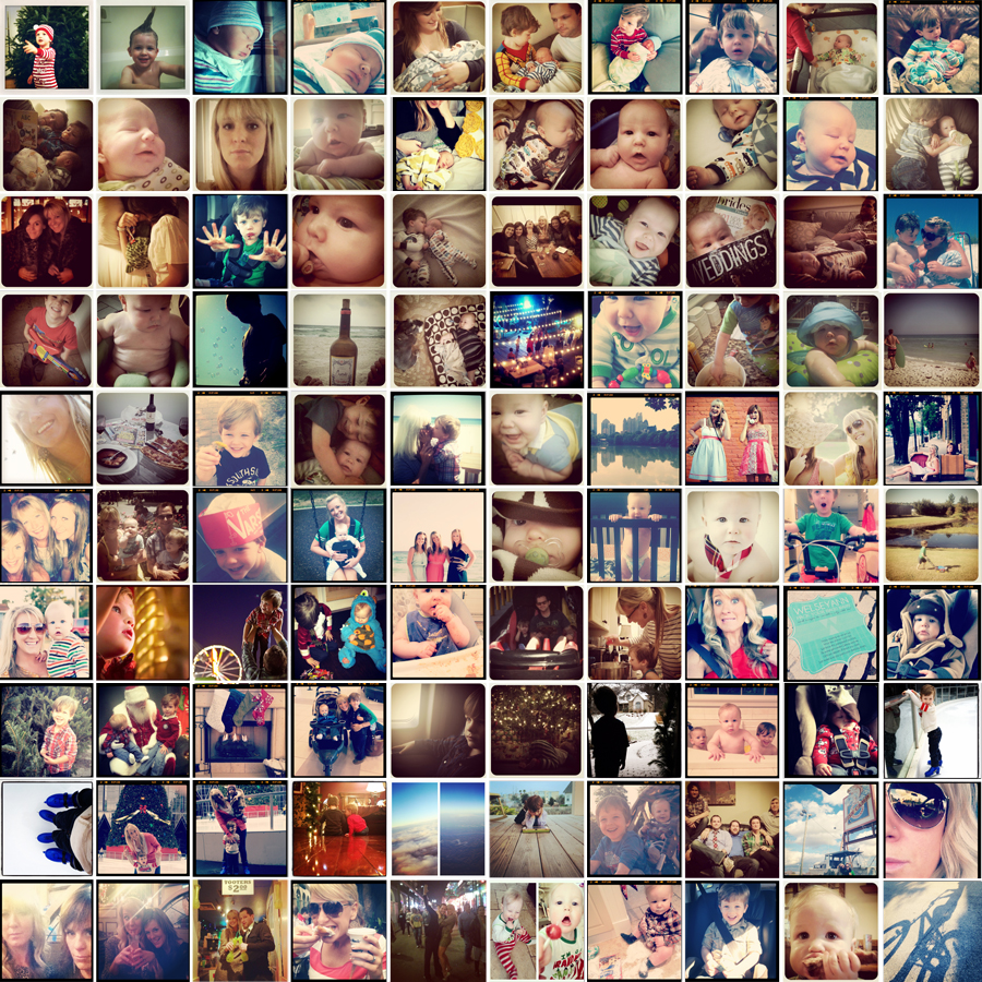 a year in instagram images collage